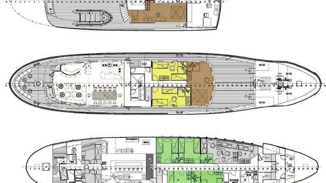 Plan du bateau de croisière Grand large