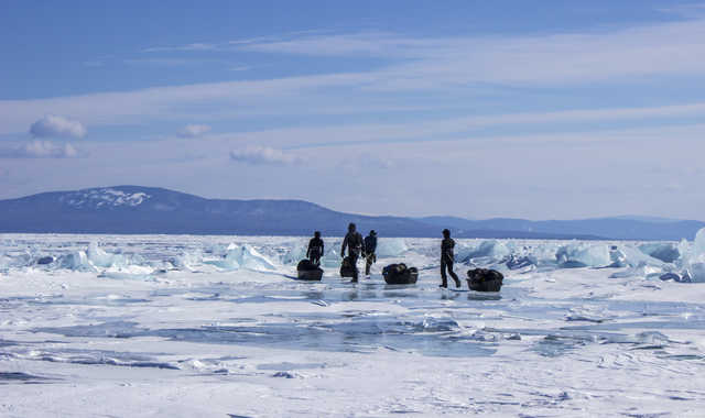 Lac baikal en hiver, Russie