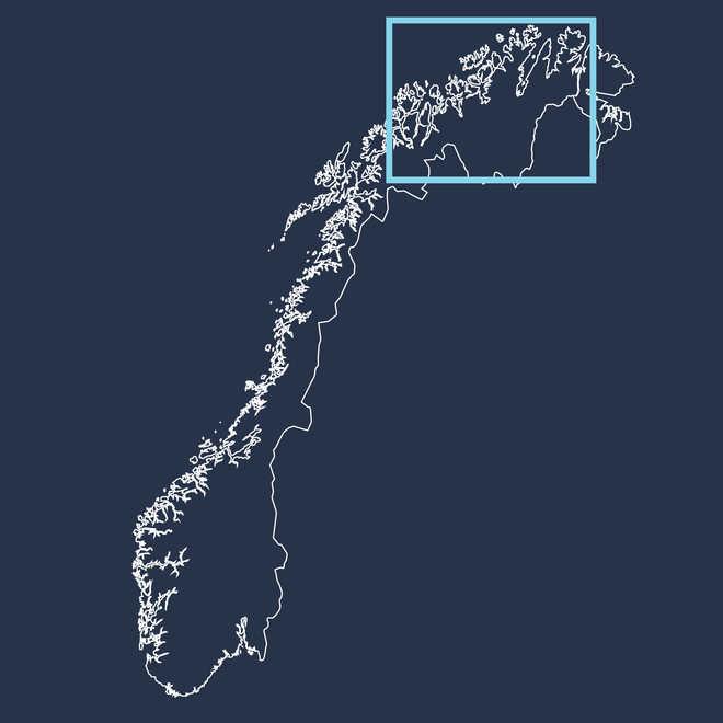 Carte de la Norvège du Nord