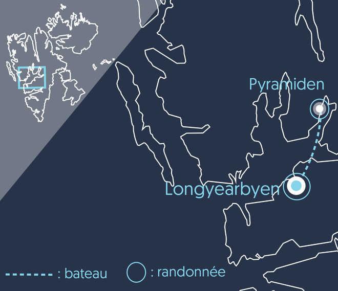 Carte du Trek découverte au Spitzberg