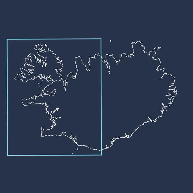 Carte fjords de l'Ouest en Islande