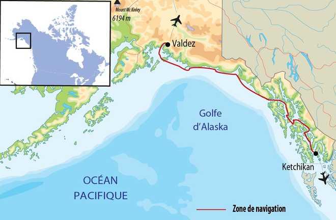 Carte voyage Alaska