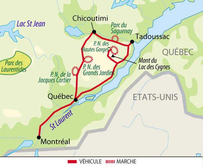 Carte voyage Canada Individuel