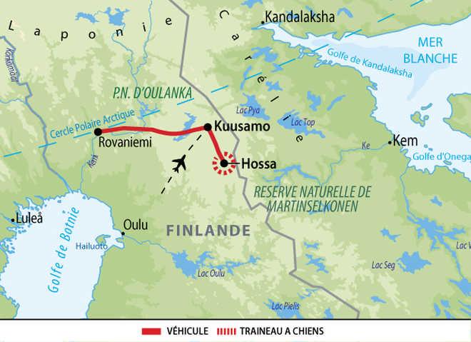 Carte : voyage famille en Finlande