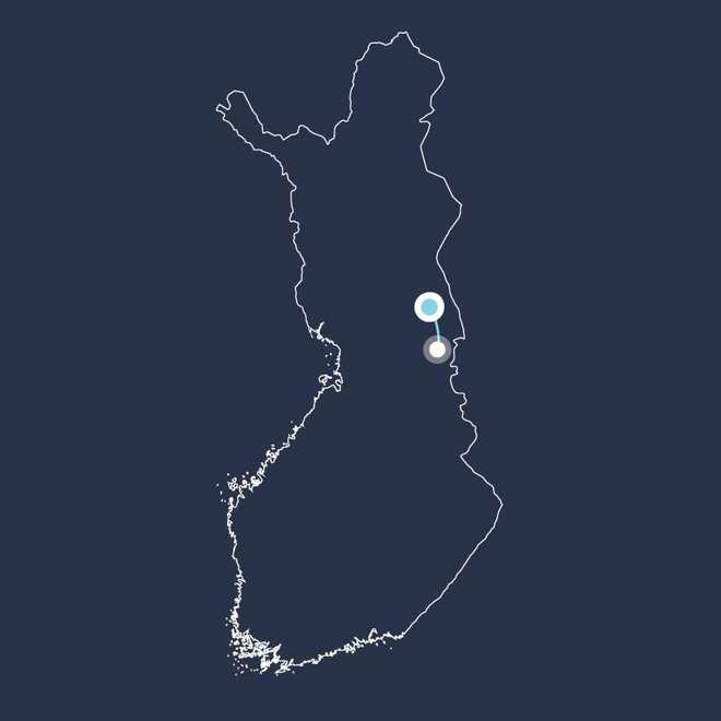 Carte voyage Finlande, Hossa.