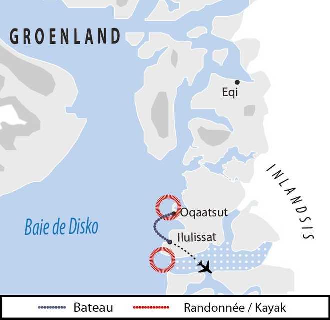 Carte Voyage Groenland