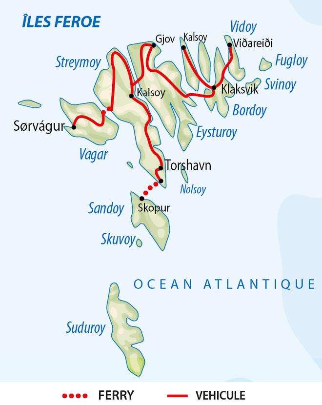 Carte Voyage Iles Féroé