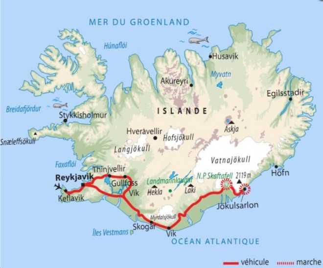 Carte Voyage Islande