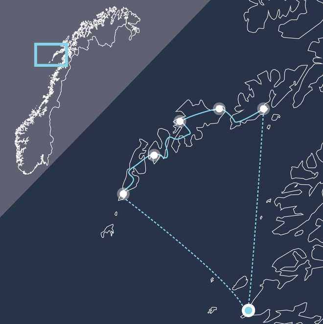 Carte voyage Norvège