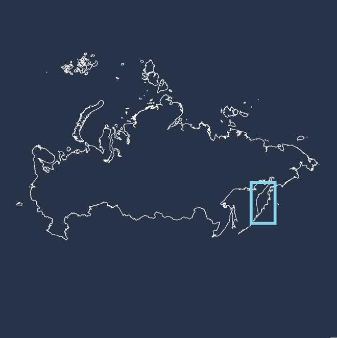 Carte voyage Russie, Kamchatka