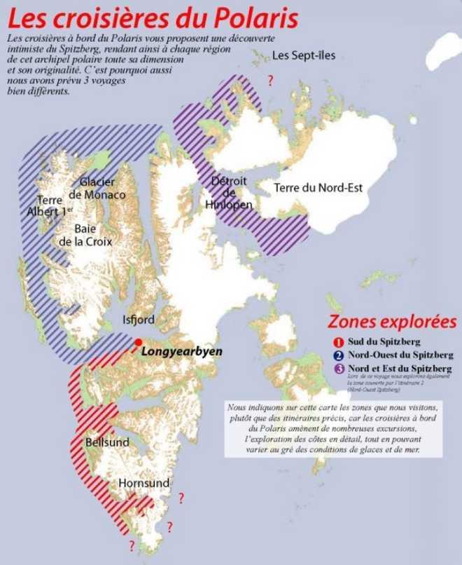 Carte Voyage Spitzberg