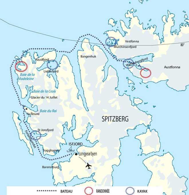 Voyage en bateau au Spitzberg