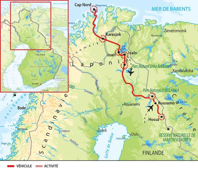 Cap Nord voyage rando norvège finlande
