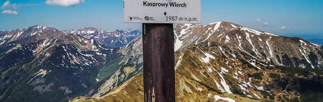 Au sommet du Kasprowy Wierch dans les Tatras occidentales
