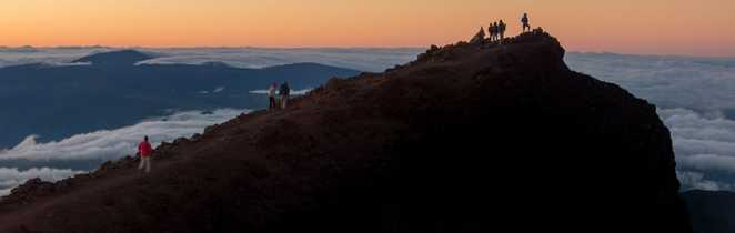 Au sommet du Piton des Neiges,  la Réunion