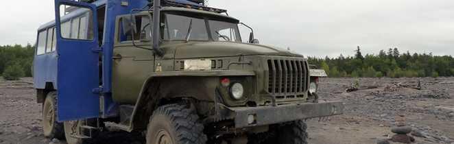 Camion russe 6x6, voyage au Kamchatka