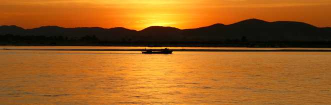 Coucher du soleil sur l'Irrawaddy