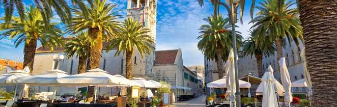 Croatie, Trogir place centrale