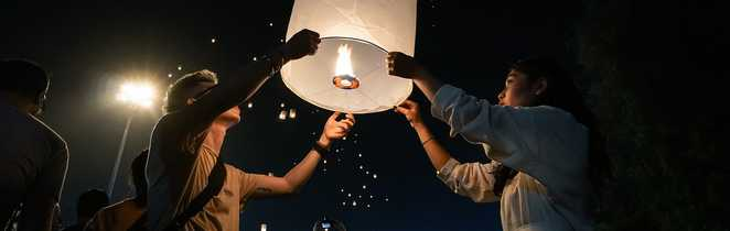 Festival des lumières en Thaïlande