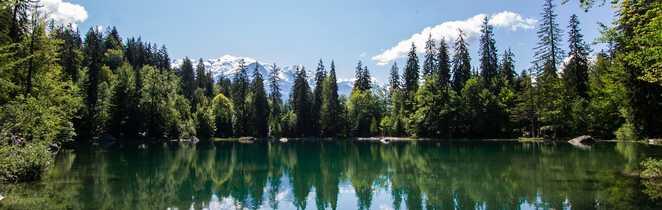 Lac de la région du Mont Blanc