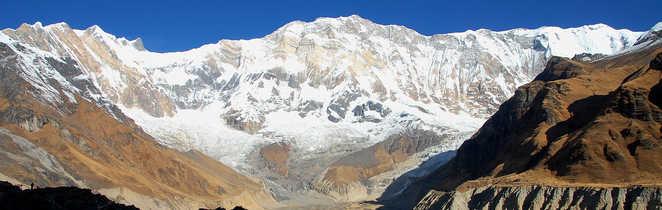 L'Annapurna I, depuis le sanctuaire des Annapurnas