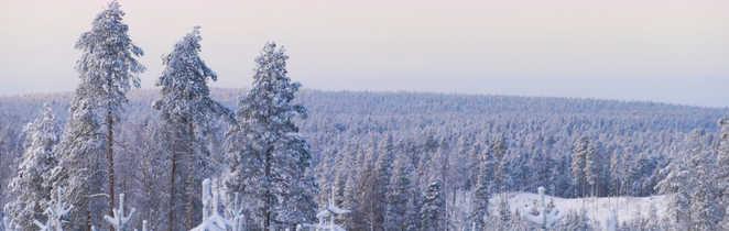 Laponie l'hiver, Finlande