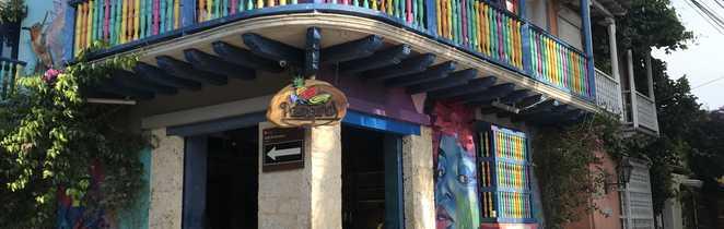 Maison coloré de Carthagène