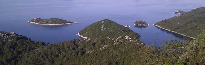 Panorama sur l'île de Mjet en Croatie