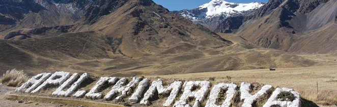 Pause le long de la route de l'Altiplano