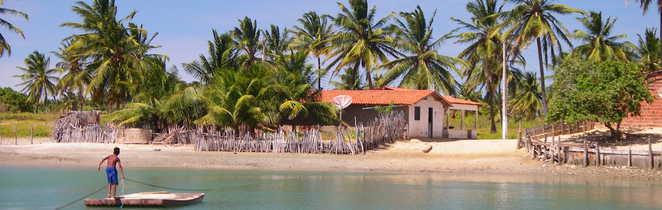 Paysage paisible du Nordeste brésilien