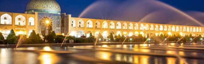 Place Naghch-e Djahan et mosquée de la ville d'Ispahan