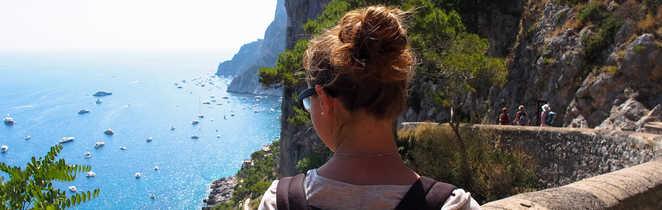 Randonnée côtière à Capri