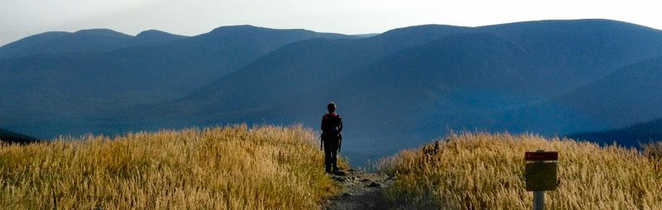 Randonnée l'automne dans le parc national de la Gaspésie