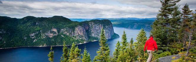 Randonnée le long du Saguenay