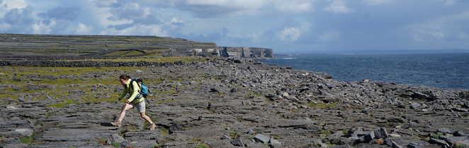 Randonnée sur les îles d'Aran, Inishmore, irlande