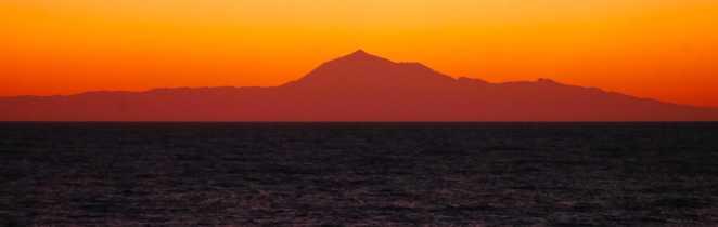 Tenerife depuis la Gomera