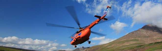 Tranfert en hélicoptère au Kamchatka