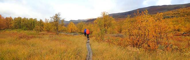 Trek dans la Kungsleden en Suède en Automne