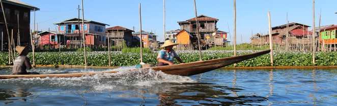 Visite du jardin flottant sur le lac Inle