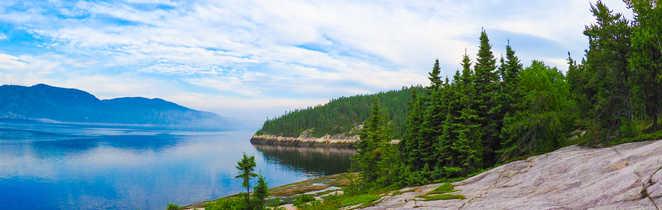Vue de la Baie de Tadoussac au Québec