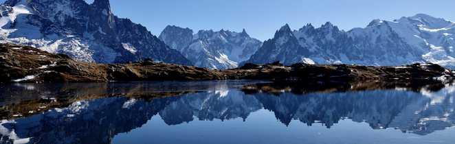Vue  Mont-Blanc depuis lac Cheserys