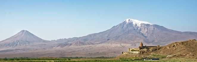 Vue sur le monastère de Khor Virap et le mont Ararat