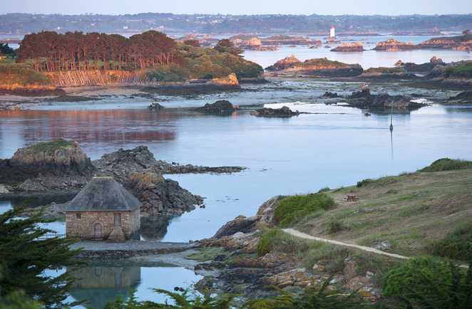 Archipel de l'île de Bréhat sur la côte de Granit Rose