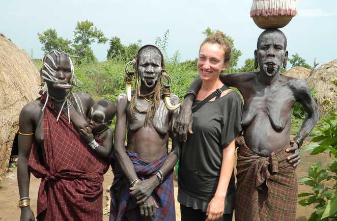 Avec les femmes de l'ethnie Mursi en Ethiopie