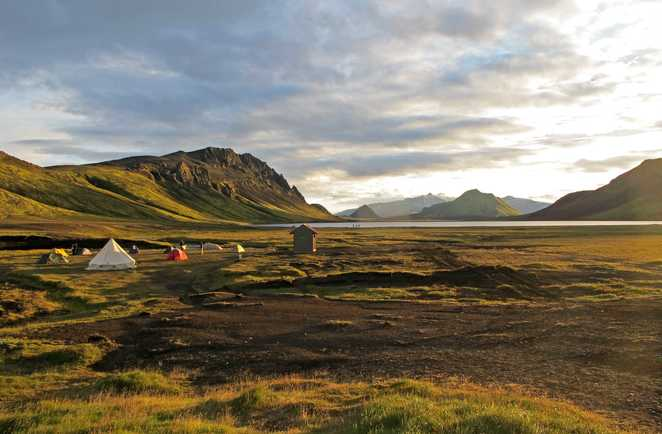 Photo d'un bivouac en Islande