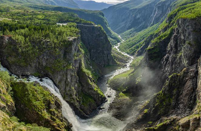 Cascade Vøringsfossen à Måbodålen Norvège