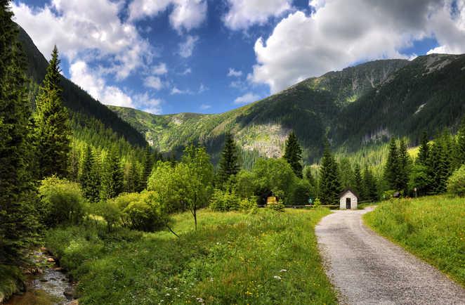 Chemin de randonnée dans les montagnes Krkonose