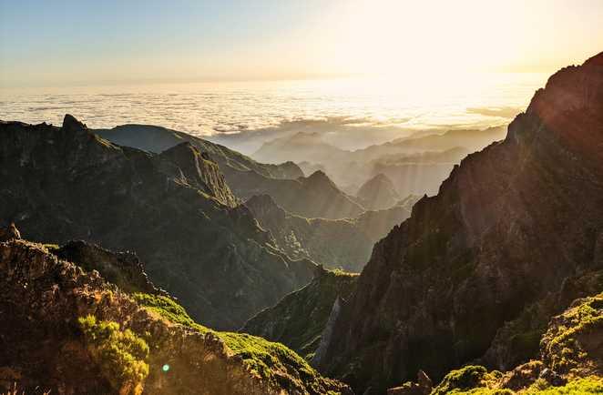 Coucher de soleil à Pico Arieiro, Madère