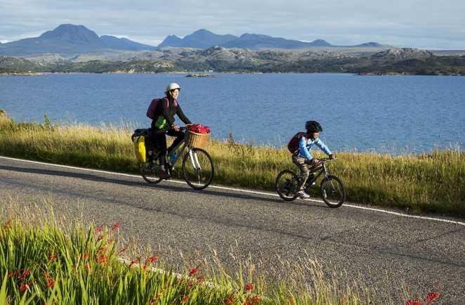 Cyclistes North Coast 500 Highland Nord Ecosse