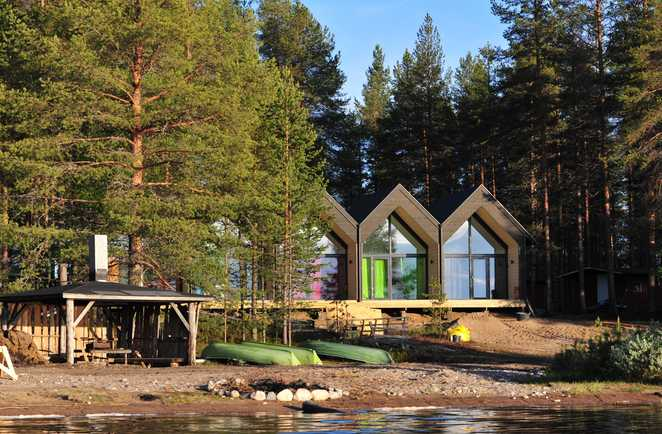 Eco-lodge du camp Norwide, en Finlande